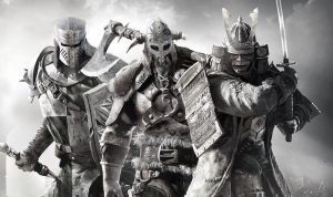 Ubisoft game, For Honor in black and white
